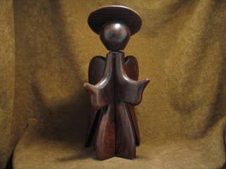 Ironwood Angel Carving from Mexico