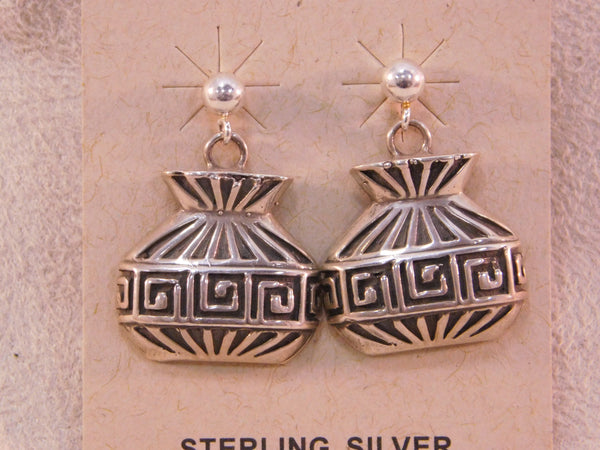 Sterling Silver Vase Post Earrings