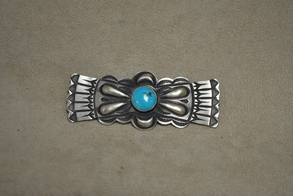 Sterling Silver Navajo Turquoise Pin