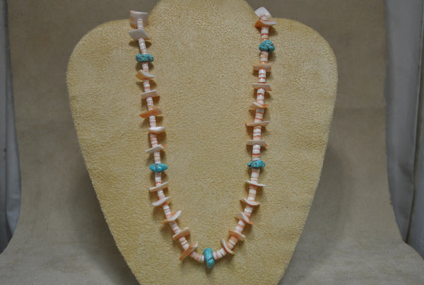 Navajo Shell and Turquoise Necklace