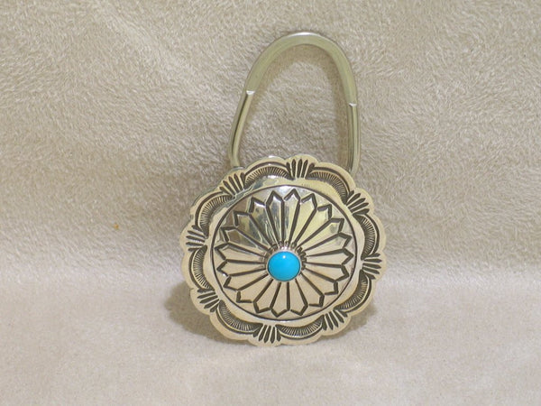Sterling Silver Turquoise Navajo Key Ring