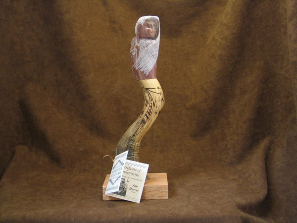 Jim Harvey Navajo Alabaster & Wood Sculpture