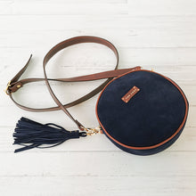 Load image into Gallery viewer, Olvia blue  suede leather crossbag