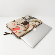 Load image into Gallery viewer, Alex document holder brown suede leather