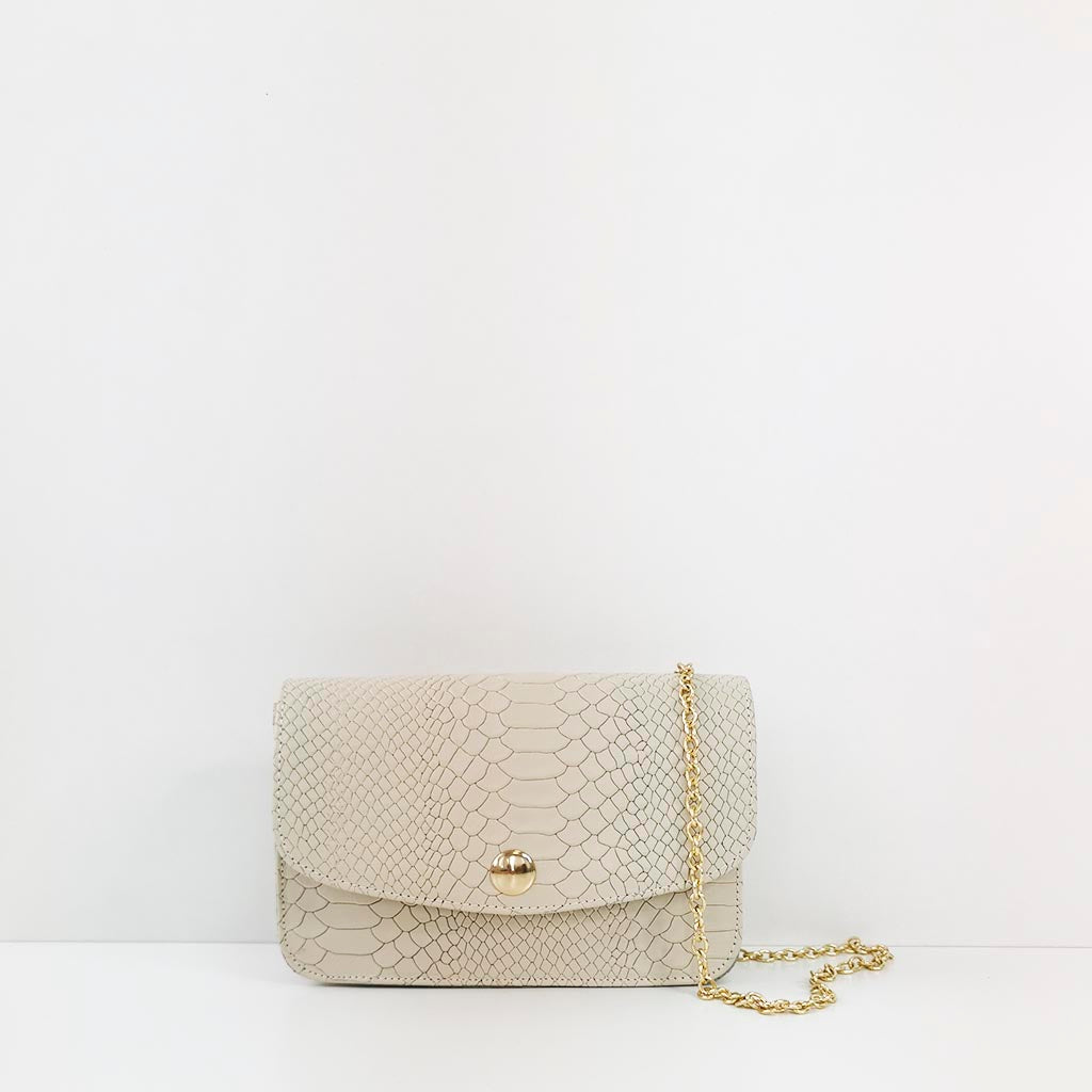 It bag serpiente nude