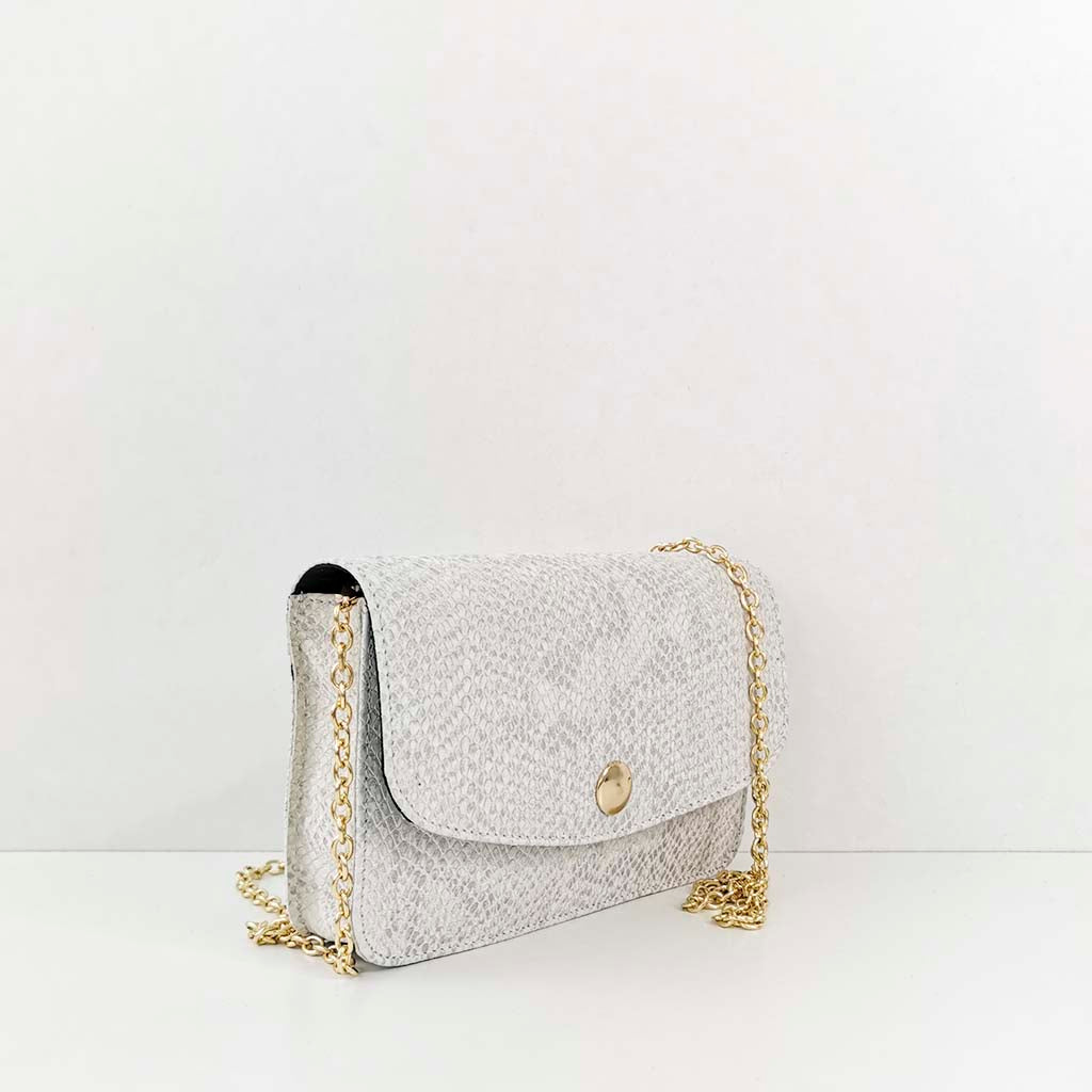 It bag serpiente blanco roto