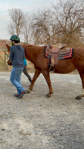 Abram Morris and his horse for Autism Awareness Month
