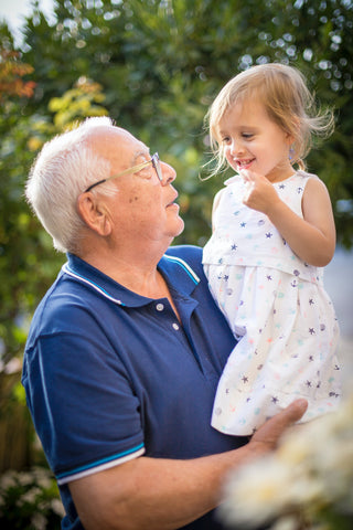 Grandpa and grandchild - Travel tips for special needs