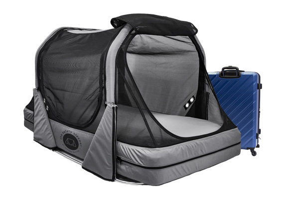 The Safety Sleeper is a completely portable travel safety bed designed for children and adults with special needs