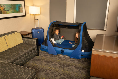 The Safety Sleeper fully enclosed canopy safety bed for special needs - portable and travel