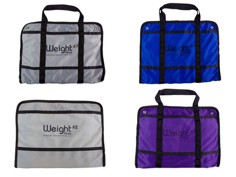 The Weight Mate is a weighted lap pad that provides calming weighted pressure on the nervous system for ADHD, ASD, SPD, mood disorder, depression, anxiety, dementia, and PTSD.