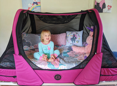 The Safety Sleeper portable safety bed for children with special needs
