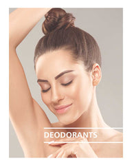 lady putting on deodorant and deodorant title