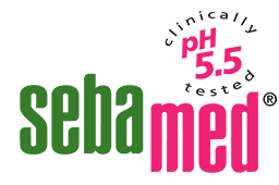 sebamed pink and green logo