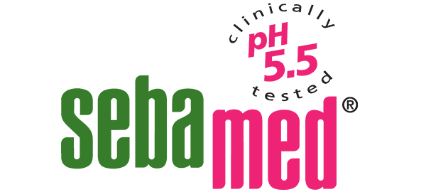 Seba Med green and pink logo
