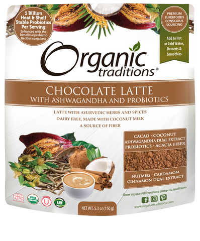 Organic Chocolate Latte with Ashwagandha & Probiotics