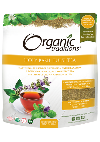 Organic Holy Basil (Tulsi) Tea Cut