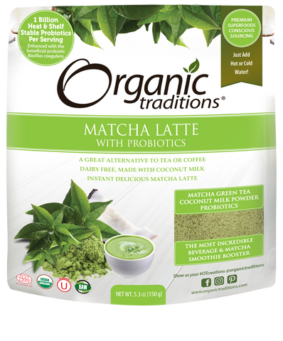 Organic Matcha Latte with Probiotics