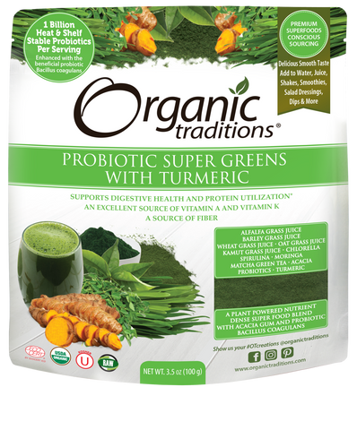 Organic Probiotic Super Greens with Turmeric