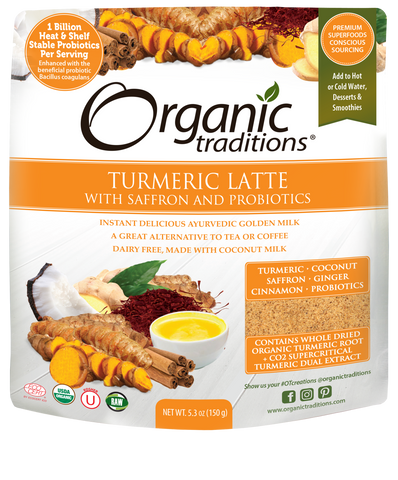 Organic Turmeric Latte with Probiotics