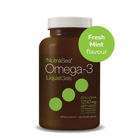 NutraSea Omega-3 Liquid Gels, Fresh Mint