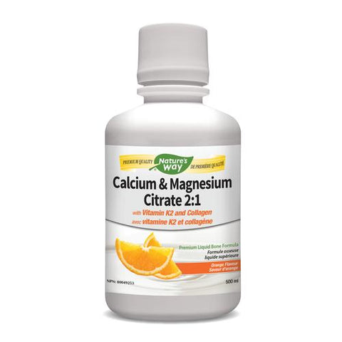 Calcium & Magnesium with K2 Liquid, Orange