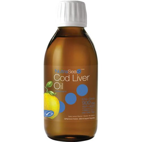 NutraSea Cod Liver Oil, Lemon
