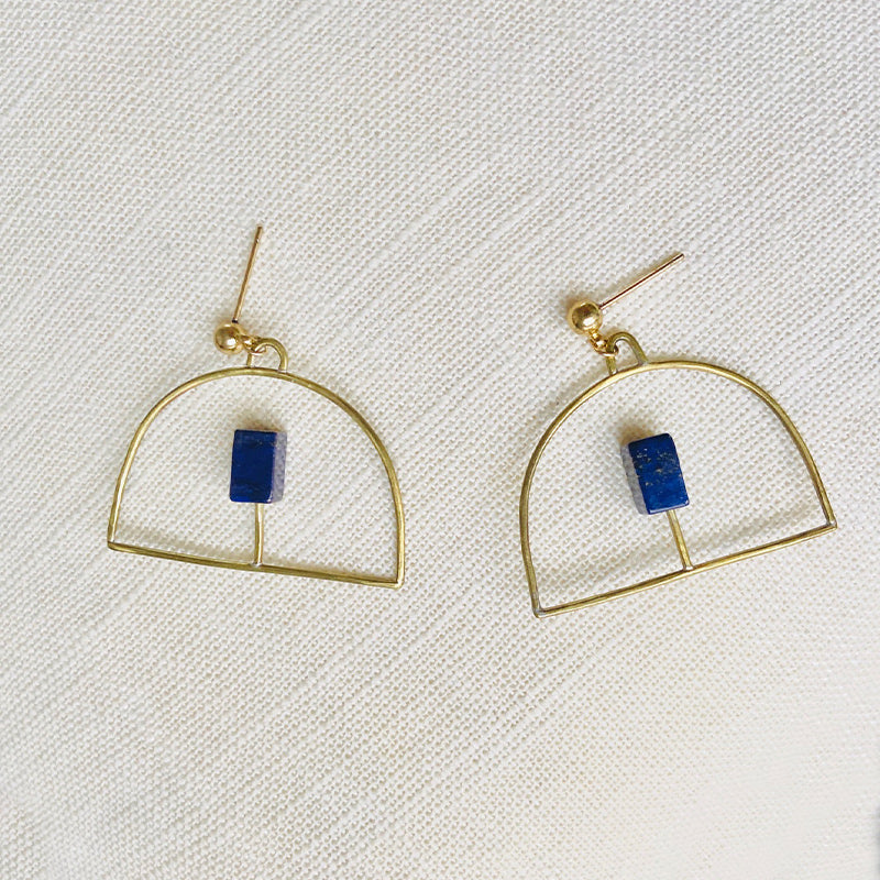 LAPIS STATEMENT EARRING