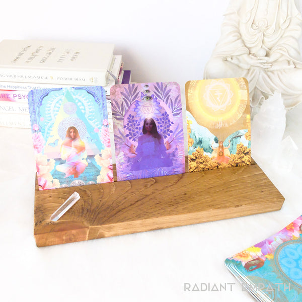 triple tarot card holder