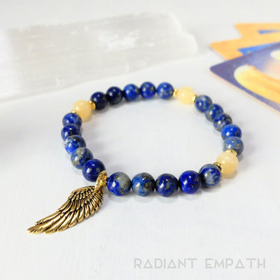 Archangel Zadkiel Gemstone Bracelet for Freedom + Forgiveness