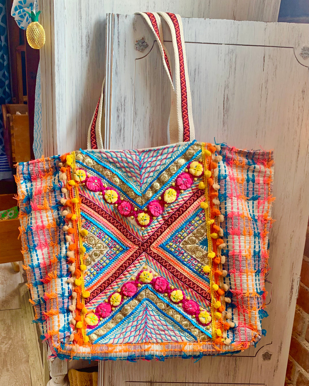 Multi-color Hippie Beach Bag