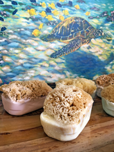 Load image into Gallery viewer, Honeysuckle Sea Sponge Soap