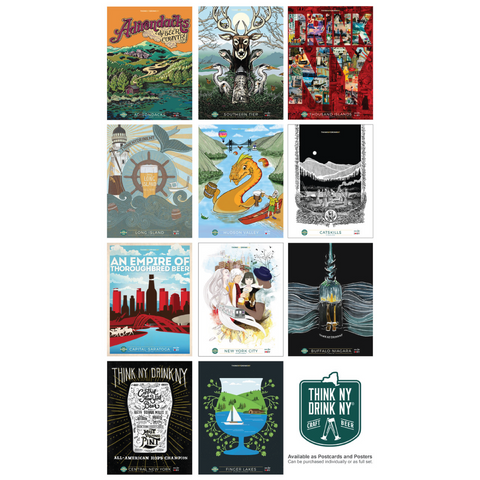 NYS Craft Beer Regional Posters | 11 Designs