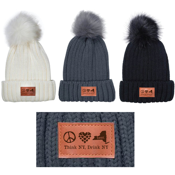 Peace. Love. Beer. | Pom Beanie