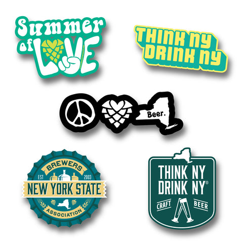 NYS Craft Beer Sticker Bundle