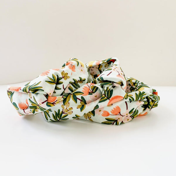 Knotted Headband - Mint Citrus Floral