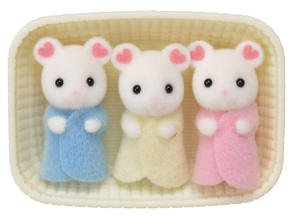 CALICO TRIPLETS MARSHMALLOW MOUSE
