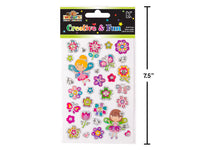 WOODY'S STICKERS FLOWERS