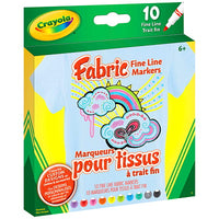 CRAYOLA FABRIC MARKERS 10 PC