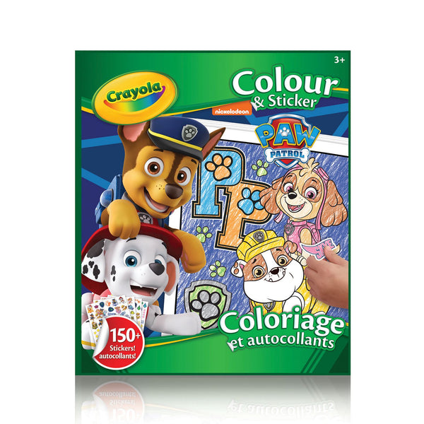 CRAYOLA COLOUR 'N STICKER PAW
