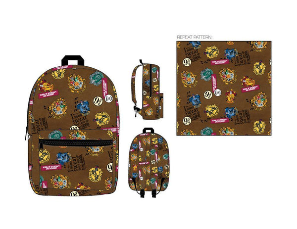 HARRY POTTER PATCH PRINT BACKPACK