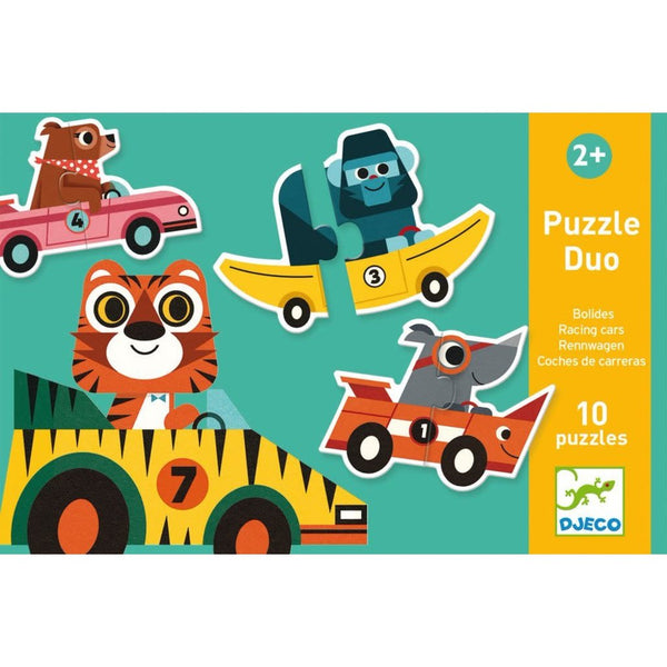 DJECO PUZZLE DUO RACING CARS