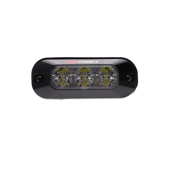 WARNING LAMP 3 LED CLEAR 10-49V