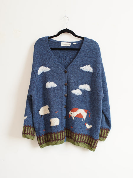 Cow-nting Sheep Cardigan