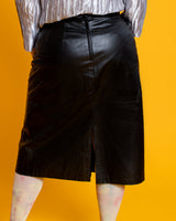 "BZ x P ""Let Them Wear Cake"" Leather Skirt"