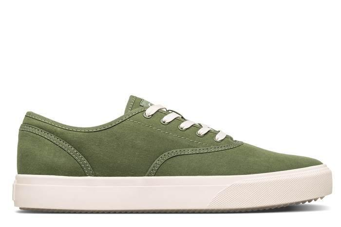 Clae August Green Organic Canvas Sneaker