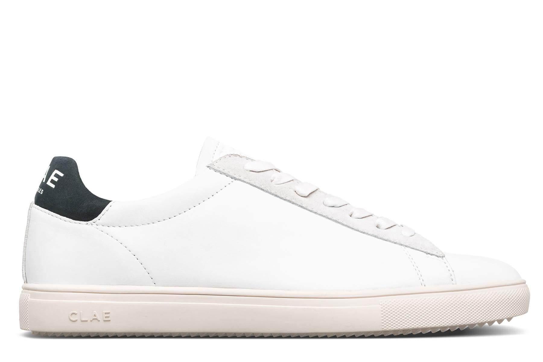 Clae Bradley California White Leather Black