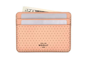 Woolly Made Half Wallet Perforated Natural