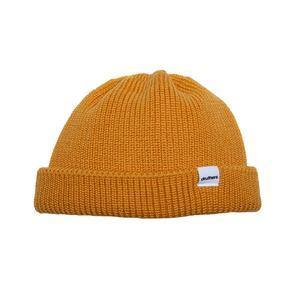 Druthers Beanie, Merino Wool Dockworker Hat - Poppy Yellow