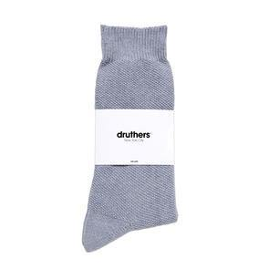 Druthers Organic Cotton Pique Crew Sock, Blueberry